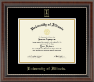 University of Illinois Diploma Frame - Gold Embossed Diploma Frame in Chateau
