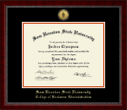 Sam Houston State University Diploma Frame - Gold Engraved Medallion Diploma Frame in Sutton