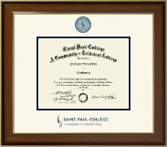 Saint Paul College Diploma Frame - Dimensions Diploma Frame in Westwood