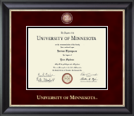 University of Minnesota Twin Cities Diploma Frame - Masterpiece Medallion Diploma Frame in Noir
