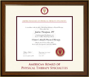 American Board of Physical Therapy Specialties Certificate Frame - Dimensions Certificate Frame in Westwood