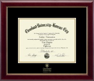 Cleveland University-Kansas City Diploma Frame - Gold Embossed Diploma Frame in Gallery