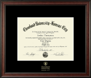 Cleveland University-Kansas City Diploma Frame - Gold Embossed Diploma Frame in Studio