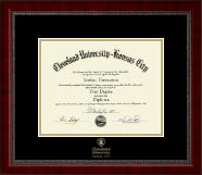 Cleveland University-Kansas City Diploma Frame - Gold Embossed Diploma Frame in Sutton
