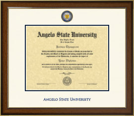 Angelo State University Diploma Frame - Dimensions Diploma Frame in Westwood