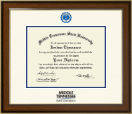 Middle Tennessee State University Diploma Frame - Dimensions Diploma Frame in Westwood