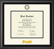 Pratt Institute Diploma Frame - Dimensions Diploma Frame in Midnight