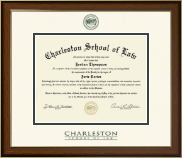 Charleston School of Law Diploma Frame - Dimensions Diploma Frame in Westwood