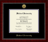 Waldorf University Diploma Frame - Gold Engraved Medallion Diploma Frame in Sutton