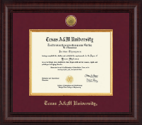 Texas A&M University Diploma Frame - Presidential Gold Engraved Diploma Frame in Premier