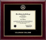 Colorado College Diploma Frame - Masterpiece Medallion Diploma Frame in Gallery