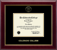 Colorado College Diploma Frame - Gold Embossed Diploma Frame in Gallery