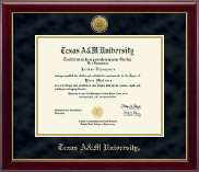 Texas A&M University Diploma Frame - Gold Engraved Medallion Diploma Frame in Gallery