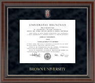 Brown University Diploma Frame - Regal Edition Diploma Frame in Chateau