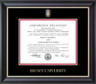 Brown University Diploma Frame - Masterpiece Medallion Diploma Frame in Noir