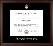 Brown University Diploma Frame - Gold Embossed Diploma Frame in Studio