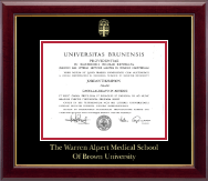 Brown University Diploma Frame - Gold Embossed Diploma Frame in Gallery