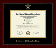 William & Mary Diploma Frame - Gold Embossed Diploma Frame in Sutton