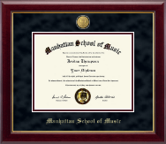 Manhattan School of Music Diploma Frame - 23K Medallion Diploma Frame in Gallery