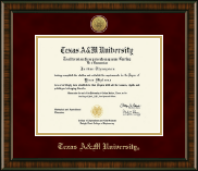 Texas A&M University Diploma Frame - Gold Engraved Medallion Diploma Frame in Brentwood