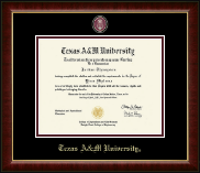 Texas A&M University Diploma Frame - Masterpiece Medallion Diploma Frame in Murano