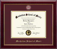 Manhattan School of Music Diploma Frame - Masterpiece Medallion Diploma Frame in Gallery