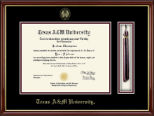Texas A&M University - Galveston Diploma Frame - Tassel Edition Diploma Frame in Southport Gold