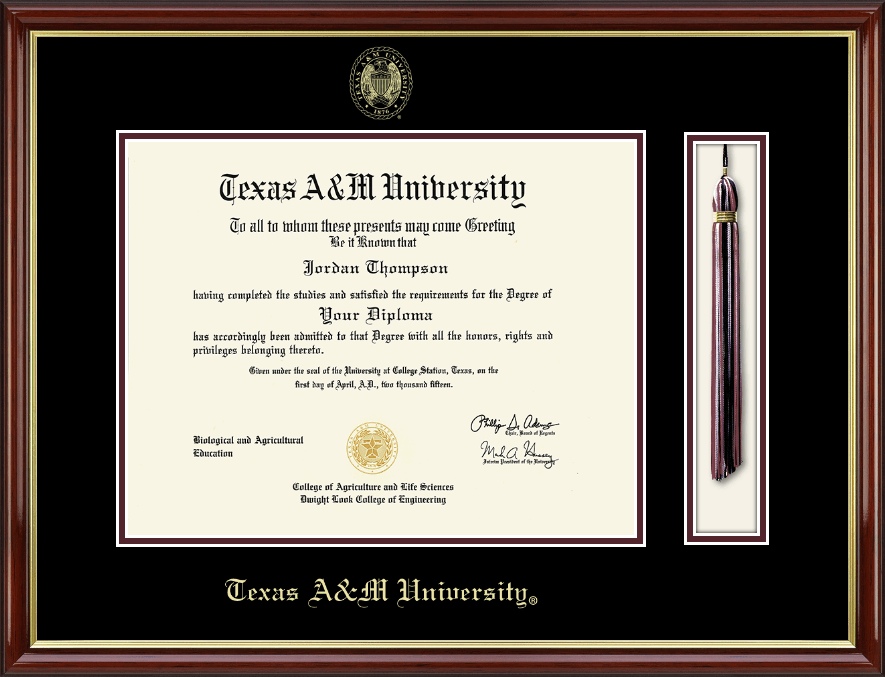 Awesome Texas A&m University Diploma Frame Image - Picture Frame ...