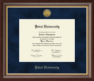 Point University Diploma Frame - Gold Engraved Medallion Diploma Frame in Hampshire