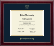 Point University Diploma Frame - Gold Embossed Diploma Frame in Gallery
