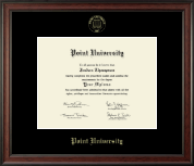 Point University Diploma Frame - Gold Embossed Diploma Frame in Studio