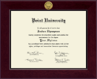 Point University Diploma Frame - Century Gold Engraved Diploma Frame in Cordova