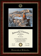 University of Colorado Diploma Frame - Campus Scene 'Winter Photo' Diploma Frame in Murano