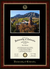University of Colorado Diploma Frame - Campus Scene 'Fall Photo' Diploma Frame in Murano