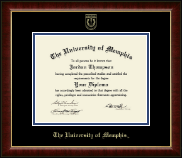 The University of Memphis Diploma Frame - Gold Embossed Diploma Frame in Murano