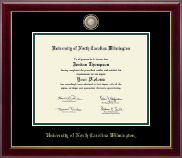 University of North Carolina Wilmington Diploma Frame - Masterpiece Medallion Diploma Frame in Gallery
