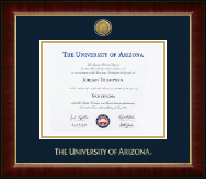 The University of Arizona Diploma Frame - Gold Engraved Medallion Diploma Frame in Murano