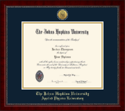 Johns Hopkins University Diploma Frame - Gold Engraved Medallion Diploma Frame in Sutton