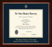 Johns Hopkins University Diploma Frame - Gold Embossed Diploma Frame in Murano