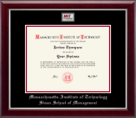 Massachusetts Institute of Technology Diploma Frame - Masterpiece Medallion Diploma Frame in Gallery Silver