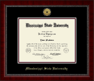 Mississippi State University Diploma Frame - Gold Engraved Medallion Diploma Frame in Sutton