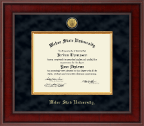 Weber State University Diploma Frame - Presidential Gold Engraved Diploma Frame in Jefferson