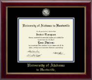 The University of Alabama Huntsville Diploma Frame - Masterpiece Medallion Diploma Frame in Gallery