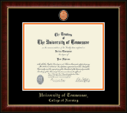 The University of Tennessee Knoxville Diploma Frame - Masterpiece Medallion Diploma Frame in Murano