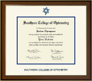 Southern College of Optometry Diploma Frame - Dimensions Diploma Frame in Westwood