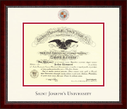 Saint Joseph's University in Pennsylvania Diploma Frame - Dimensions Diploma Frame in Sutton