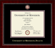 University of Minnesota Duluth Diploma Frame - Masterpiece Medallion Diploma Frame in Sutton