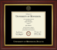 University of Minnesota Duluth Diploma Frame - Gold Embossed Diploma Frame in Redding