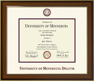 University of Minnesota Duluth Diploma Frame - Dimensions Diploma Frame in Westwood
