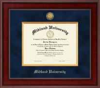 Midland University Diploma Frame - Presidential Gold Engraved Diploma Frame in Jefferson